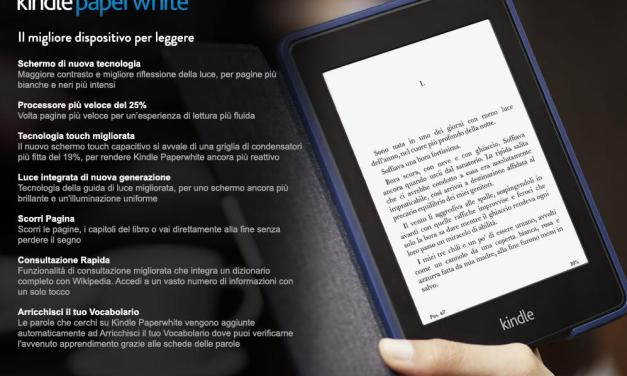 Amazon presenta il nuovo Kindle Paperwhite