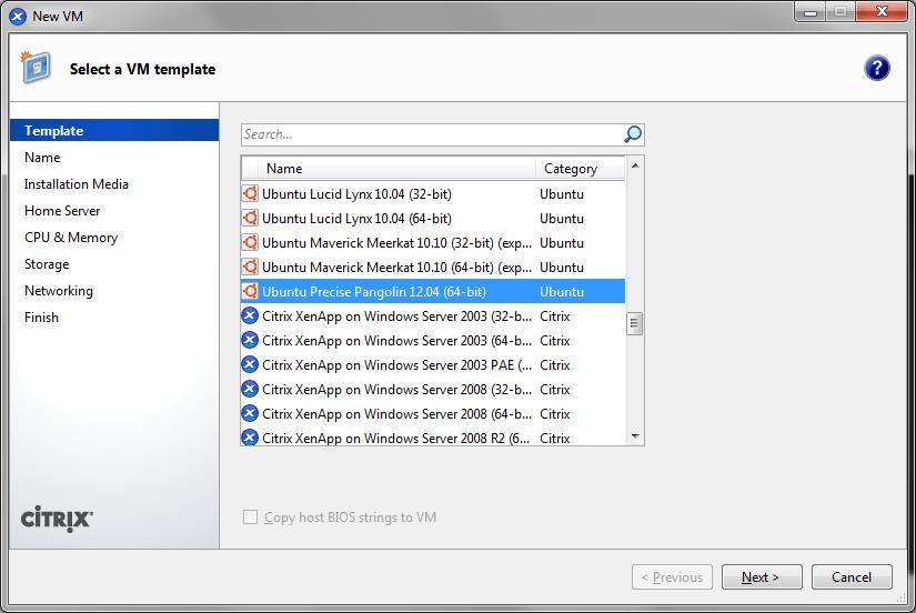 Virtualizzare Ubuntu 12.04 su Citrix XenServer 6.0