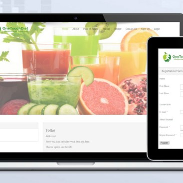 Skyindya Web Design Work - One Touch Diet