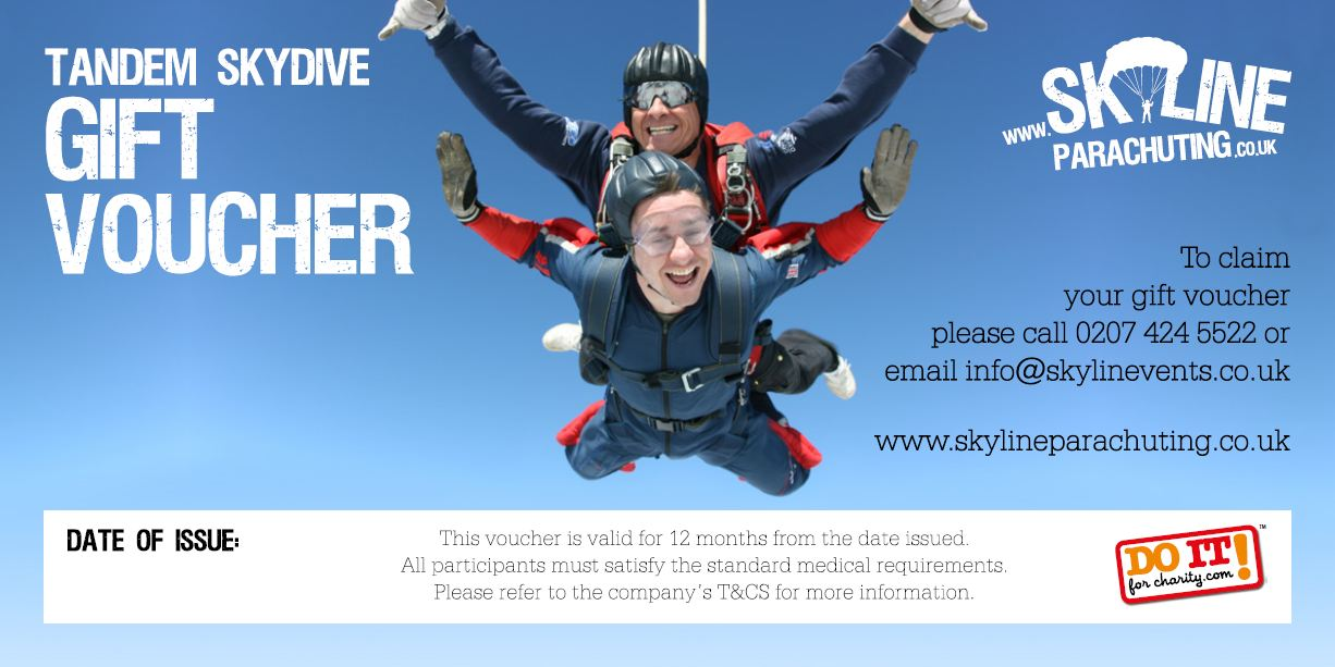 Skydiving Gift Certificate Template Gift Ftempo