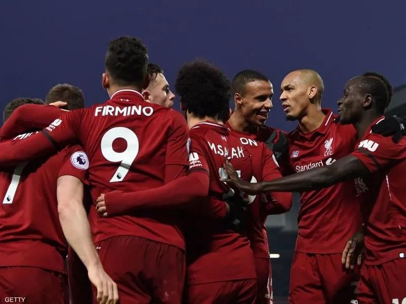يتربع ليفربول على صدارة الدوري الإنجليزي