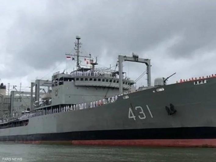 خرج.. أكبر سفينة في البحرية الإيرانية