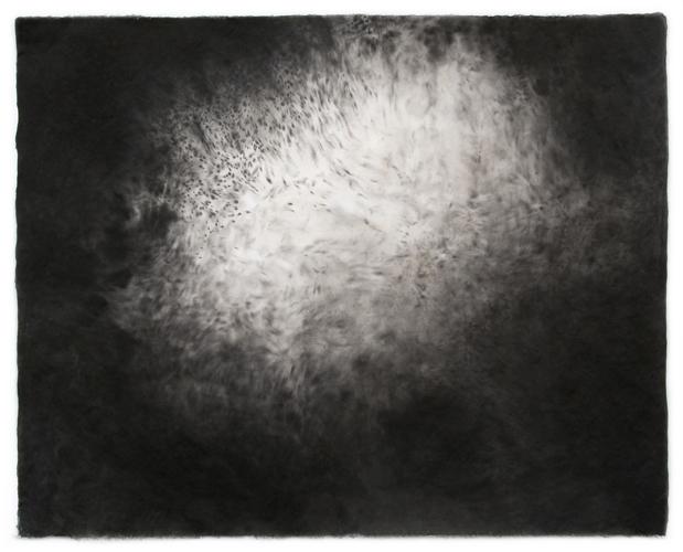 Sky Pape Bellagio Suite 5465 ink drawing on kozo paper