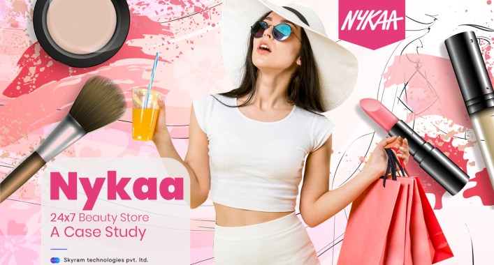 nykaa - 24x7 beauty store - a case study - skyram technologies