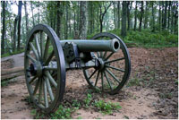 Solitary canon at Kennesaw Mountain's National Battlefield Park
