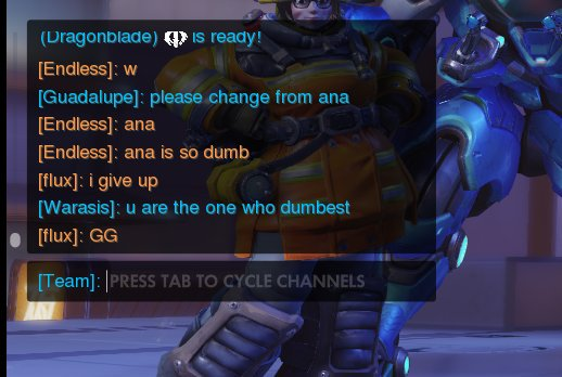 Overwatch chat overlay