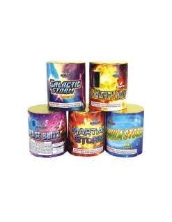 Galactic Storm, The Mighty Atom, Nebula Storm, Martian Storm, Space Blitz 6Shots Round Cake Assorted