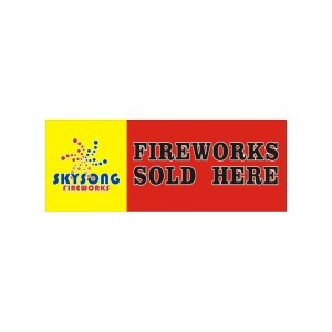 Banner Fireworks Sold Here 3'X8' -