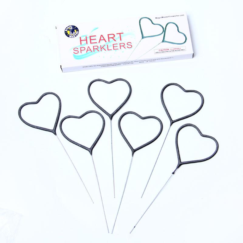 wedding heart sparkler