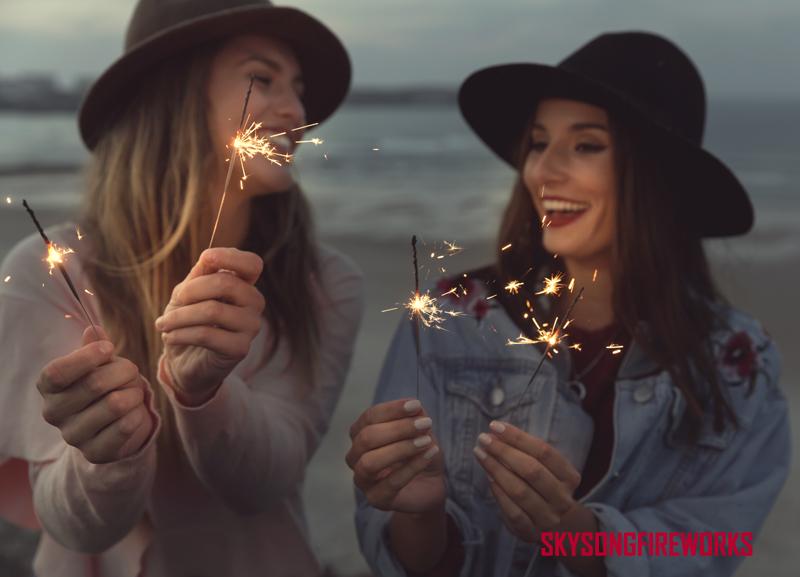 girl sparkler fireworks