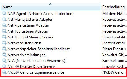 GeForce experience Service