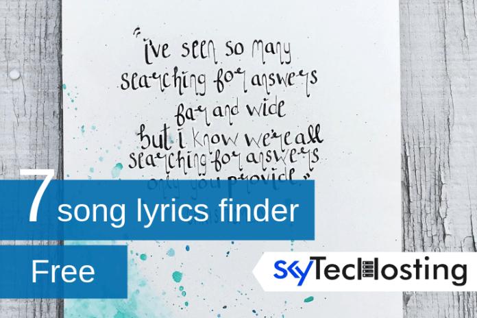 song lyrics finder