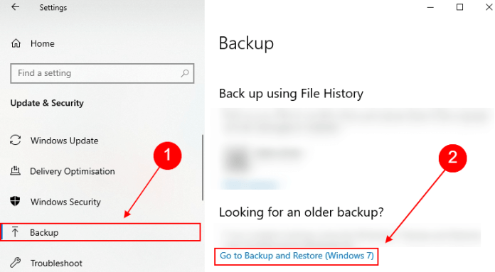 backup and restore windows 7 in windows 10