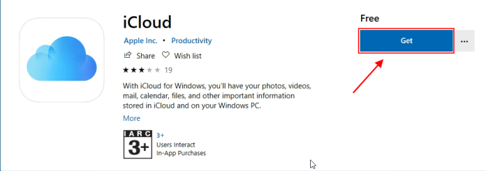 download icloud from Microsoft Store