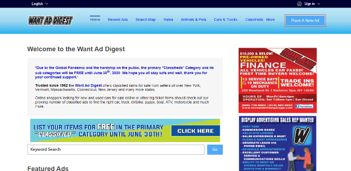 want ad digest