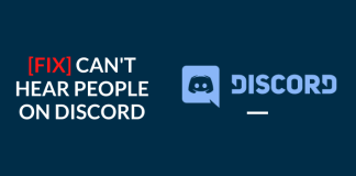 fix can't hear people on discord