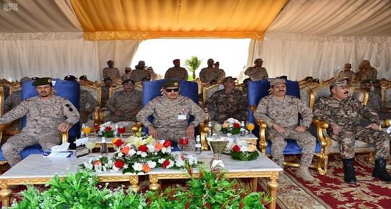 """بالصور.. اختتام فعاليات التمرين العسكري السعودي الأردني """" سحاب 2 """""""