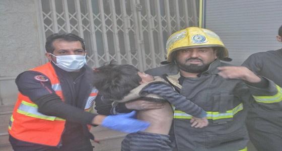 """"""" الدفاع المدني """" يكشف أسباب اندلاع حريق عمارة سكنية بحائل"""