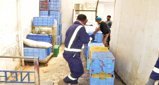 إغلاق منزل حولته العمالة الوافدة إلى مستودع أسماك بالطائف