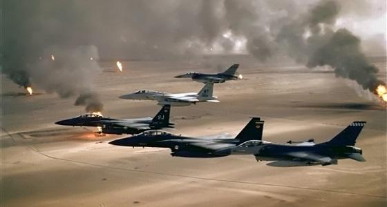 """"""" التحالف """" يشن 9 غارت جوية على مواقع الحوثيين باليمن"""