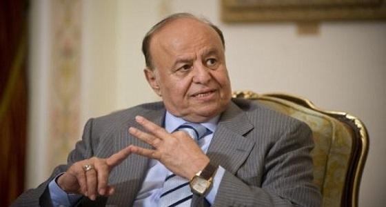 الرئيس اليمني يثمن مواقف دول التحالف ودورها في الانتصارات المحققة ضد الحوثيين