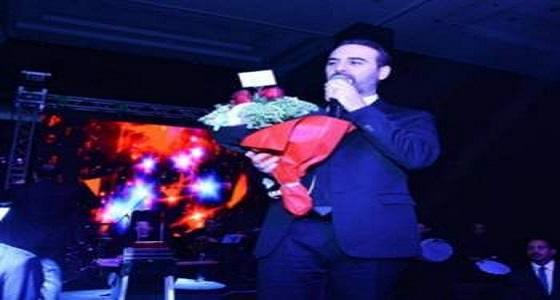زوجة وائل جسار تفاجئه على المسرح في عيد الحب
