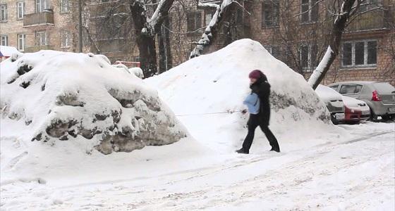 الثلوج تغيب طلاب المدرسة السعودية بموسكو عن الدوام
