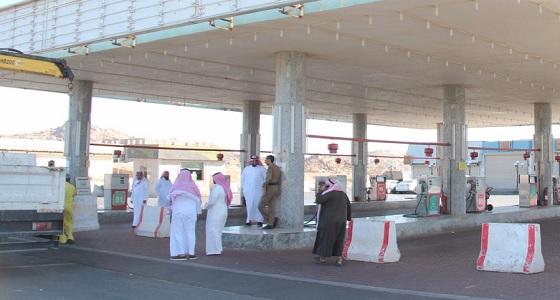 بالصور.. إغلاق 5 محطات وقود مخالفة بالطائف