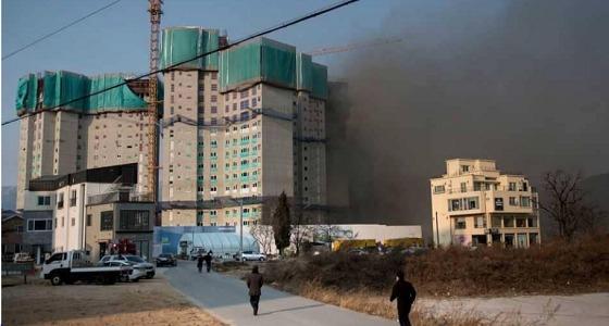 حريق ضخم بجوار القرية الأولمبية قبل انطلاق الأولمبياد الشتوية بيوم