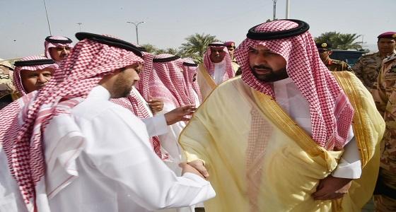 """بالصور.. نائب أمير جازان ينقل التعازي لأسرة الشهيد """" الكعبي """""""