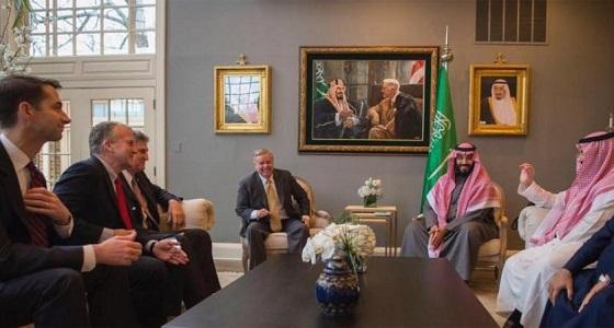 ولي العهد يجتمع مع قادة الكونغرس