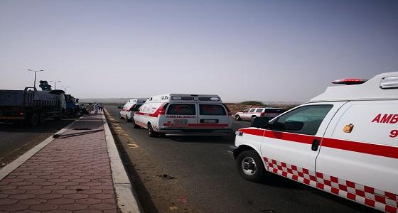 بالصور.. إصابة 5 أشخاص من عائلة واحدة في حادث تصادم بجدة