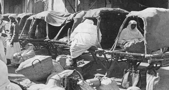 """صورة تاريخية.. """" الشقدف """" من أقدم وسائل نقل الحجاج"""