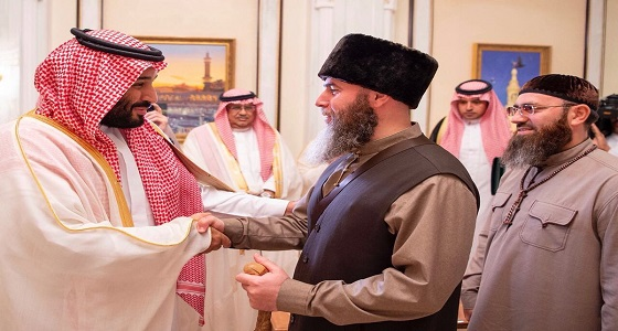 بالصور.. ولي العهد يستقبل رئيس جمهورية الشيشان