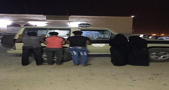 القبض على 3 من المتسللين الإثيوبيين برفقتهم امرأتان بعصماء