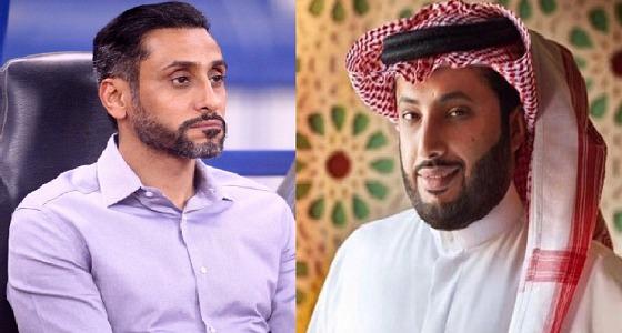 """بالفيديو .. تركي آل شيخ يؤيد ترشيح """" الجابر """" لعضوية المكتب التنفيذي للفيفا"""