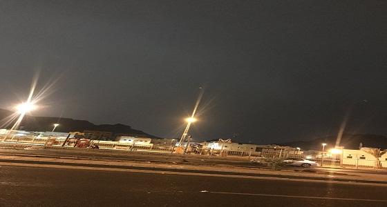 بالفيديو ..أمطار علي المدينة المنورة