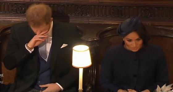 بالصور.. الأمير هاري يتجاهل زوجته في زفاف ابنة عمه!
