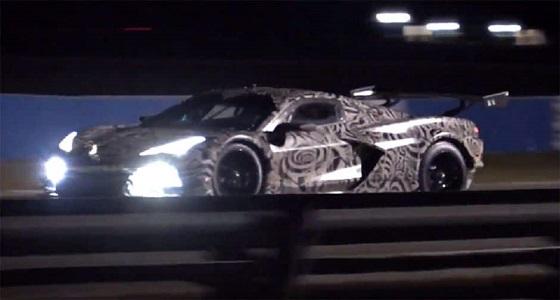 """بالفيديو.. جزء من اختبارات سرعة سرية لـ """" سيارة كورفيت C8.R 2020 """""""