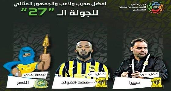 خوسيه سييرا وفهد المولد وجمهور النصر الأفضل في الجولة 27 بدوري المحترفين