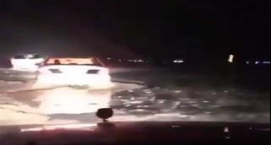 """فتح طريق """" الرياض – الطائف """" بعد ساعات من إغلاقه"""