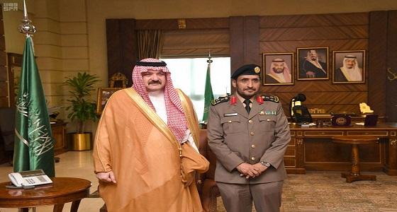 الأمير مشعل بن ماجد يقلد مدير إدارة مكافحة المخدرات بجدة رتبته الجديدة