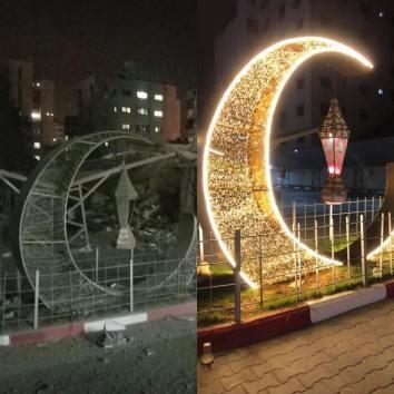 الاحتلال يحول فرحة الفلسطينين برمضان إلى دمار