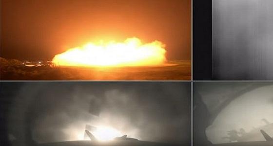 """بالفيديو.. انفجار صاروخ """" فالكون """" الفضائي الثقيل لدى هبوطه في المحيط الأطلسي"""