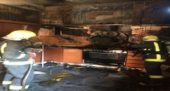 اندلاع حريق في منزل بسبب الإهمال أثناء عملية الطبخ