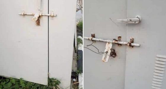 بالصور.. انفجار خزان كهرباء في وجه مواطن بأبهاوشقيقه يكشف تفاصيل الواقعة