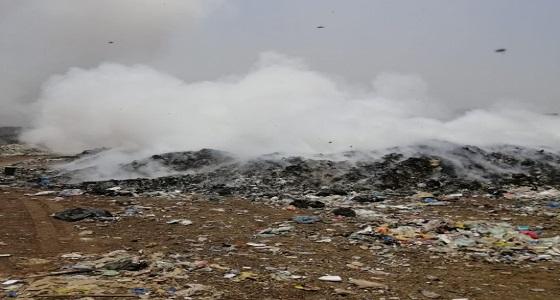 اندلاع حريق بمرمى النفايات في محايل عسير