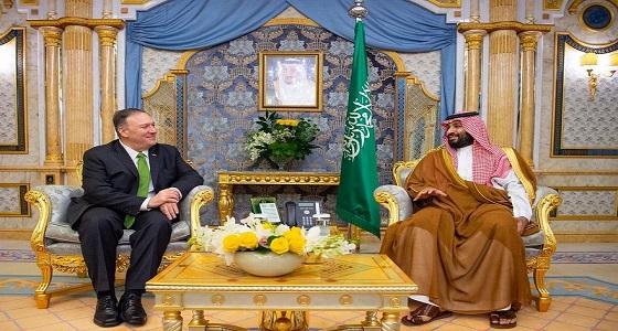 تفاصيل ما دار في اجتماع ولي العهد مع وزير الخارجية الأمريكي