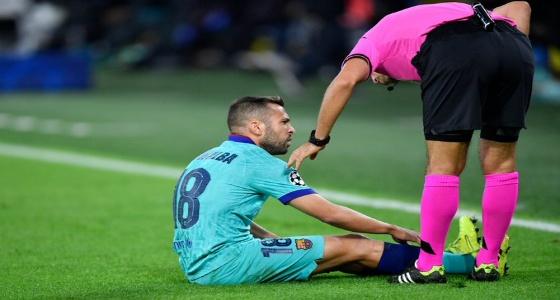 ألبا يغيب عن برشلونة بسبب الإصابة