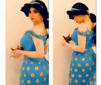جليلة تتقمص الأميرة ياسمين في انتظار علاء الدين